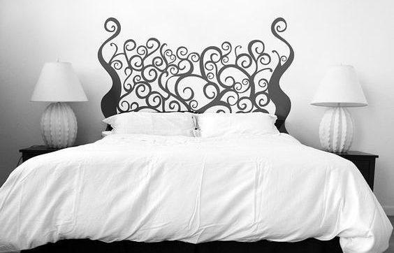 cabecero de cama dibujado